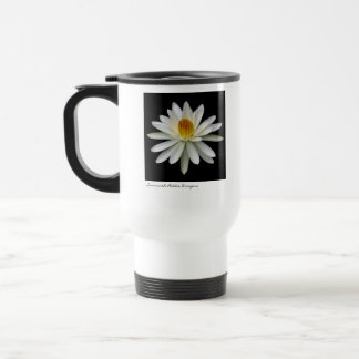 White Water Lily Travel Cup Mug