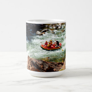 White water rafting basic white mug