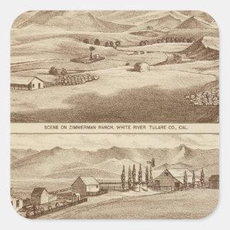 White Water, Saucelito ranches Square Sticker