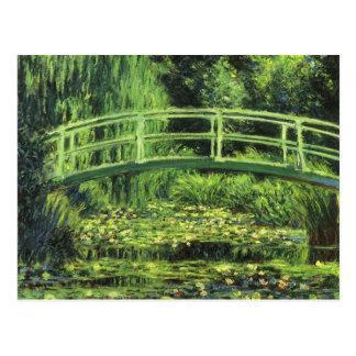White Waterlilies by Claude Monet, Vintage Art Postcard
