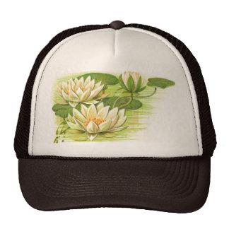 White Waterlilies Trucker Hats