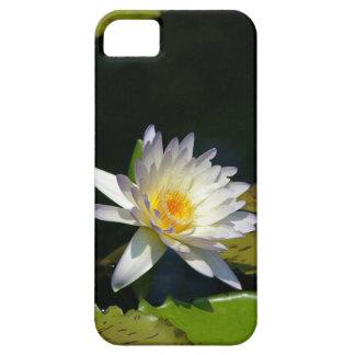 white waterlily phone case