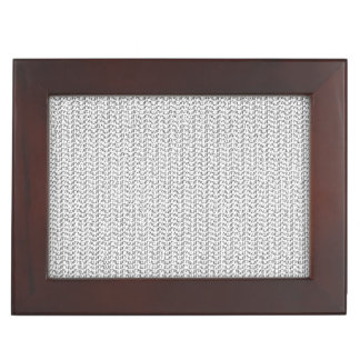 White Weave Mesh Look Memory Boxes