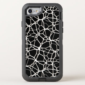 White Web Texture + your bachgr. & ideas OtterBox Defender iPhone 7 Case