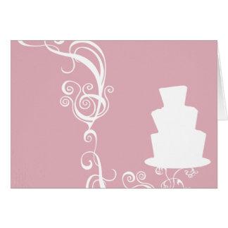 White Wedding Cake Illustration Card