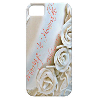 White wedding cake with Hebrews Bible verse iPhone 5 Cases