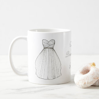 White Wedding Dress Gown Bride Bridal Shower Mug