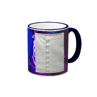 White Wedding Dress With Blue Purple Roses Coffee Mug