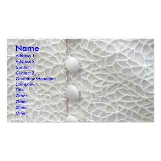White Wedding Gown Business Cards