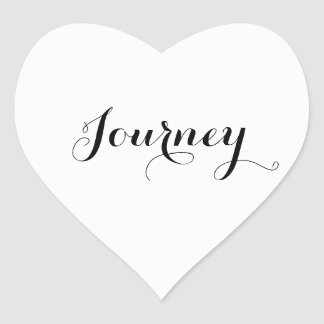 White Wedding Journey or Edit to your word Heart Sticker