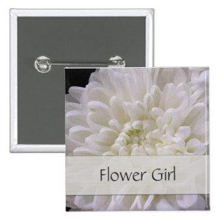 White Wedding Pin for the Flower Girl