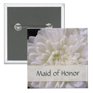 White Wedding Pin for the Maid of Honor
