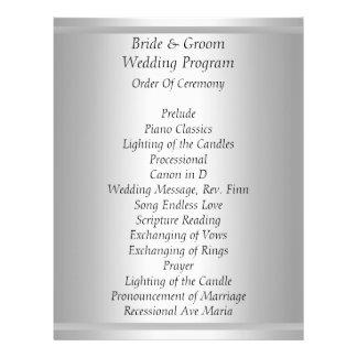 White Wedding Program 21.5 Cm X 28 Cm Flyer