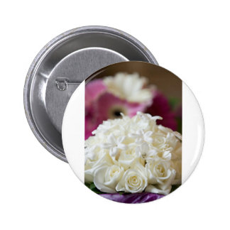 White Wedding Roses Buttons
