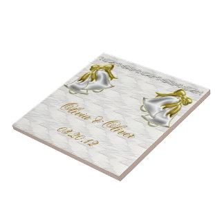 White Wedding Small Square Tile