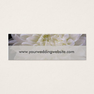 White wedding website cards
