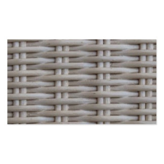 White Wicker Pack Of Standard Business Cards