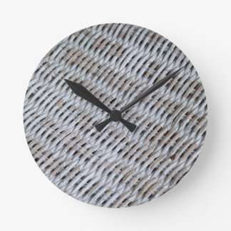 White Wicker Clocks