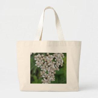 White wild flower jumbo tote bag