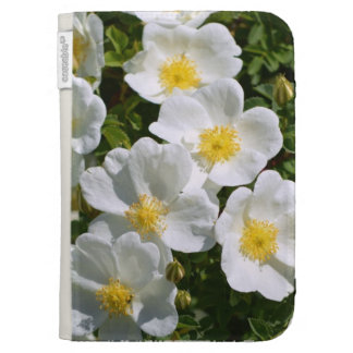White Wild Roses Case For The Kindle