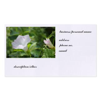 White WIldflower Business Card