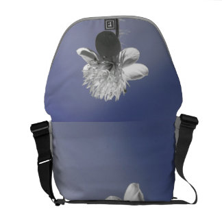 White Wildflower in the Blue Sky Commuter Bags