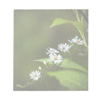 White Wildflower Notepads