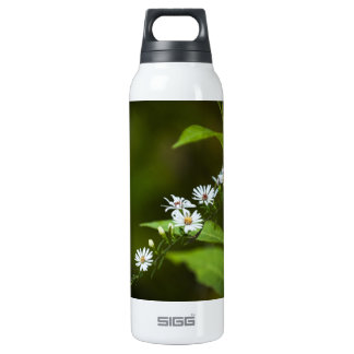 White Wildflower 16 Oz Insulated SIGG Thermos Water Bottle