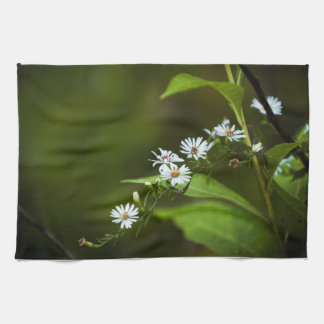 White Wildflower Towels