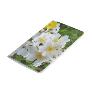 White Wildflower Themed Notebook Journals