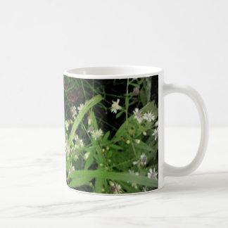 White Wildflowers Basic White Mug