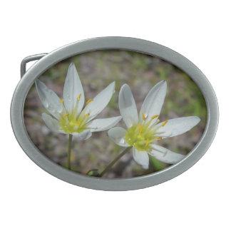 White wildflowers Belt Buckle