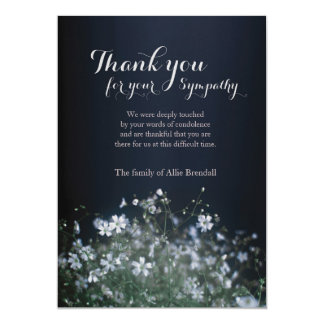 White Wildflowers Bereavement Thank You Card