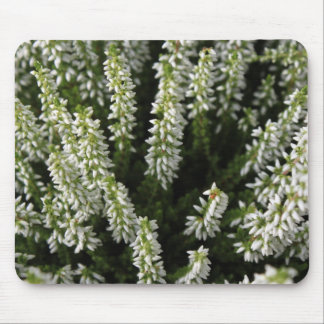 White Wildflowers Mousepads