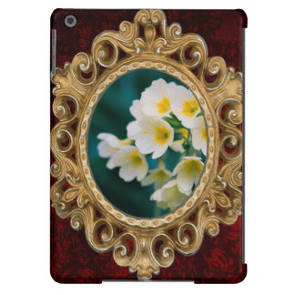 White Wildflowers On A Teal Background Case For iPad Air