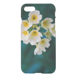 White Wildflowers On A Teal Background iPhone 7 Case