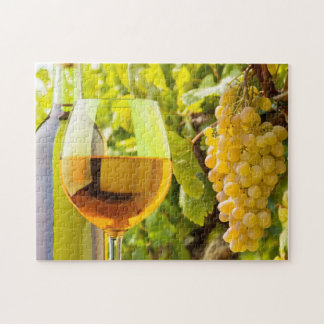 White Wine And Grapes Jigsaw Puzzle