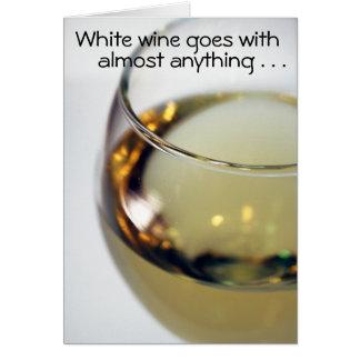 White wine card
