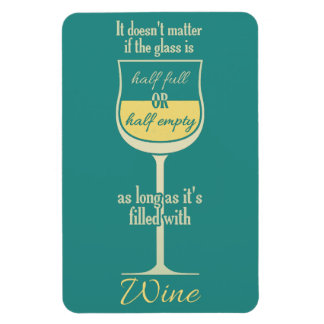 White Wine Glass magnet