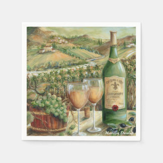 White Wine Lovers Disposable Napkin