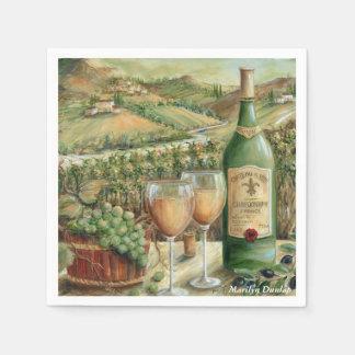 White Wine Lovers Disposable Serviettes