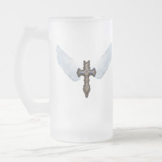 white wing cross Mug