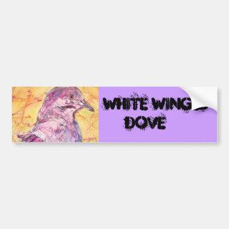 White-winged Dove art Bumper Sticker