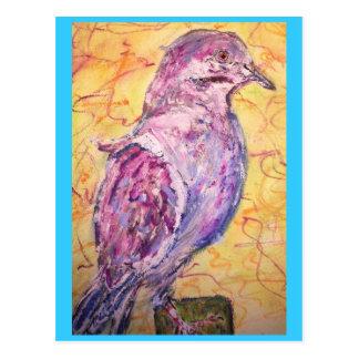 White-winged Dove art Postcard