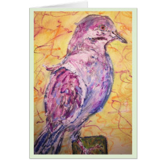 """White-winged Dove """"Be Free"""" Greeting Card"""