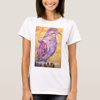 "White-winged Dove ""peace & joy"" T-Shirt"