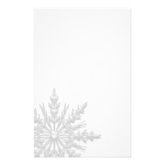 White Winter Snowflake Stationery