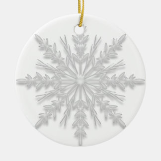 White Winter Snowflake Will You Be My Bridesmaid Ceramic Ornament