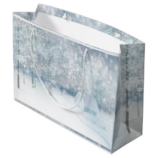 White Winter Wonderland Large Gift Bag