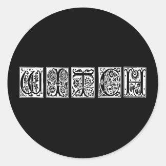 White Witch Classic Round Sticker